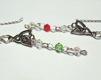 Celtic Design All Sterling Silver with Swarovski Crystals colors are your choice