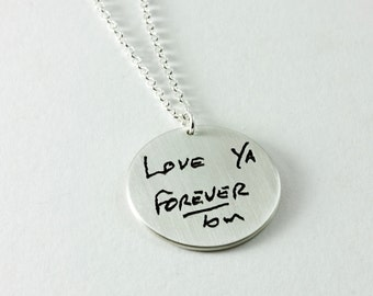 Your Own Handwriting Love Letter Pendant