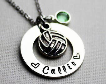 volleyball necklace, volleyball name necklace, volleyball jewelry, personalized volleyball necklace, personalized volleyball jewelry