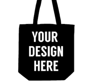 Custom canvas tote bags, black tote bag, custom bag