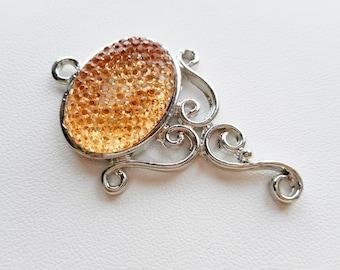 Pendant, Peach Pendant, Necklace Pendant, Jewelry supplies, Pendants for Necklaces, Necklace Pendants,