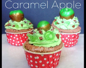 Caramel Apple Bath Bomb - Bath Bomb Cupcake -  Cupcake Bath Bomb - Bubble Cream Icing - 2-in-1 - Bath Bomb and Bubble Bath