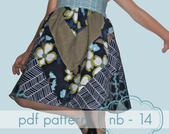 Happy Herringbone Dress - INSTANT download - nb - 14 and doll - pdf sewing pattern