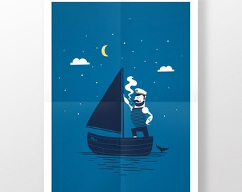 Poster · Sailorman No. 1 · 50 x 70