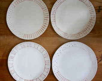 Ceramic dinner plate - set of 4 plates