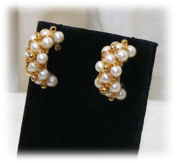 """BEAUTIFUL """"C"""" EARRINGS . . . pierced . . (never worn)"""