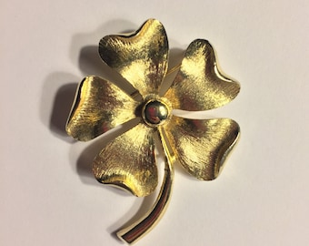 Vintage Sarah Coventry Gold Pansy Flower