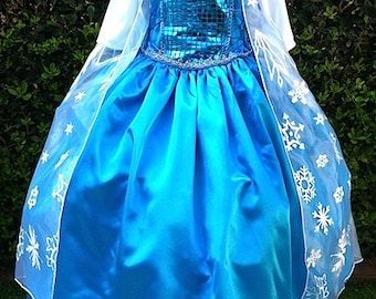 Princess Elsa Costume Dress