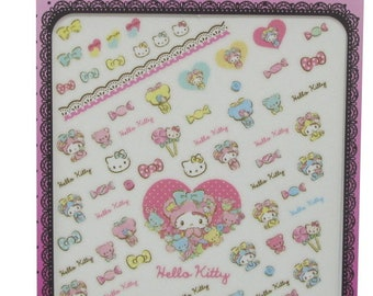 Hello Kitty Nail Decals Stickers