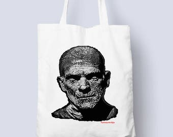 The Mummy Tote bag for all those horror occasions (horror,monster tote bag,gift for him,gift for her)