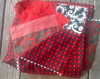 Baby Blanket/ Cotton Flannel Baby Blanket/ One of a Kind Baby Blanket / Baby Shower Gift