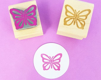 Butterfly Stamp - Fluttering Butterfly Rubber Stamp - Gift for Girl - Girl Party Invite - Nature Lover Present - Wings - Flying - Girl stamp