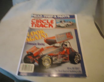 Vintage April 1987 Petersen's Circle Track Look Again! Magazine Volume 6 Number 4, collectable