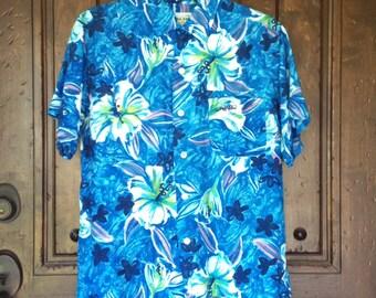 1950s Cold Rayon Shirt by Kali Kai  M