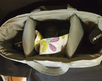 """Camera bag insert / Made for Canon Nikon Olympus Sony / Handles / Camera case / Dslr camera bag 13"""" x 5"""" x 7"""" Made in U.S.A."""