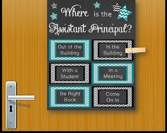 Assistant Principal Gift Idea, Office Door Sign, Printable Poster Decoration