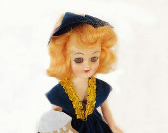 Vintage Sapphire Birthstone Doll, September Birthday Doll, Collectible Doll, Display Doll, Vintage Collectible, Sapphire Birthstone