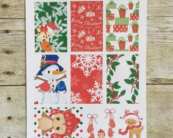 Christmas Critters Weekly Layout for New Release Big HP Planner Stickers F495