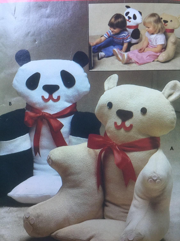 Butterick 4951 Nähen Muster gefüllt Tier Sessel Pandabär