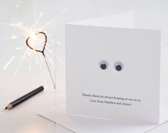 Personalised Googly Eyes Mother's Day Card