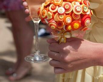 Bridal or Bridesmaid Button Bouquet