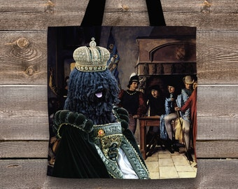 Puli Art Tote Bag   Perfect DOG LOVER Gift for Her Gift for Him