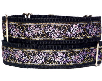 EVE'S GARDEN, Martingale Dog Collar, Safety Collar, Greyhound Collar, Sighthound Collar, Adjustable, Training Collar, Metallic Martingale