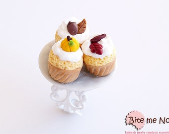 Food Jewelry Autumn Cupcakes Ring, Cupcake Ring, Miniature Food Ring, Mini Food Ring, Mini Food Jewelry, Kawaii Jewelry, Kawaii, Foodie Gift