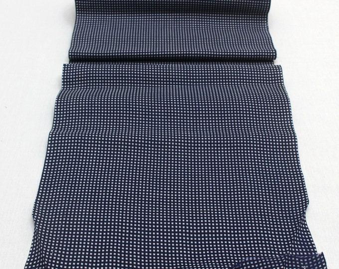 Japanese Artisan Cotton. Vintage Yukata Bolt. Blue Indigo Katazome Stencil Design. Hand Dyed(Ref: 1693)