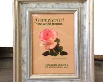 Unique Faux Marble and Silver Photo Frame