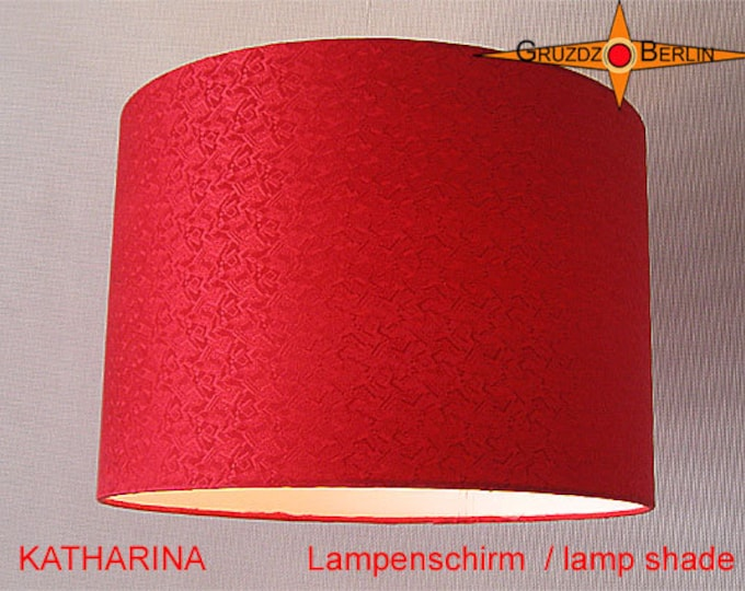 Lamp shades all sizes gruzdzberlin red lampshade silk katharina d30 cm silk jacquard red lamp aloadofball Choice Image