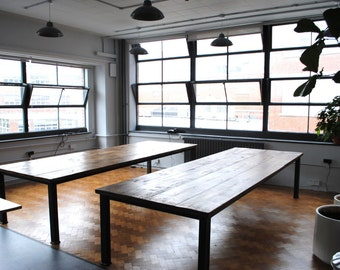 Industrial Vintage Style Rustic Dining Table