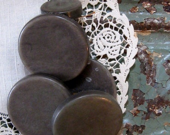 """Vintage Chunky Gray Coat Buttons (6), 1 1/2"""" Diameter"""