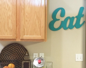 """Wooden """"Eat"""" Sign"""