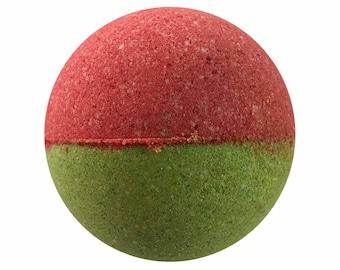 Kiwi Strawberry Bath Bomb, Bath Fizzy, Handmade Spa Product, Epsom Salts, Hydrating Coconut Oil, Sensitive Skin, Great Gift for Her