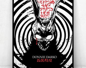 Donnie Darko Movie Poster Illustration / Donnie Darko Movie Poster / Movie Poster / Donnie Darko