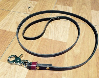 Genuine leather Dog leash with Name Stamped