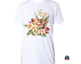 Vintage Hawaiian 100% combed cotton T-shirt derived from a design by artist Heather Wimberly.