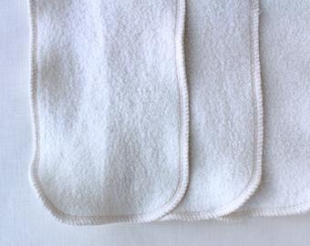 6 Organic hemp cotton fleece 2 layer inserts - super absorbent!