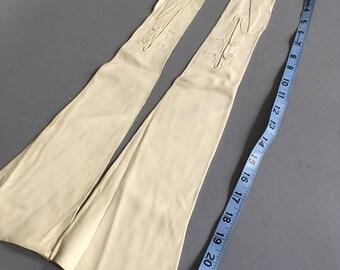 Deadstock leather opera gloves