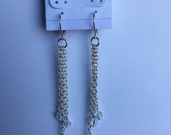 Lever back earrings - with swarovski crystals