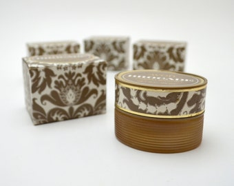 Vintage Avon Brocade Cream Sachet, .66 oz, New Old Stock, In Original Box, Collectible Jar for Lotion and Cream, 1960s