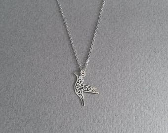 925 sterling silver Hummingbird necklace