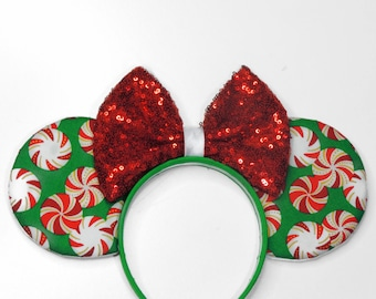 Christmas Minnie Ears - Mickey's Very Merry Christmas Party - Disney Christmas Ears - Candy Ears - Christmas Party - Minnie Mouse Ears -
