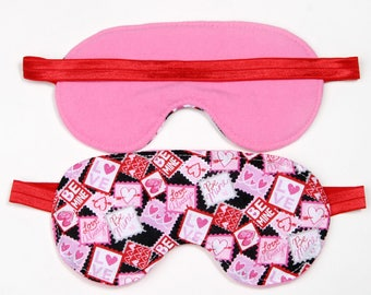 Valentine Stamps Sleeping Eye Mask party favor