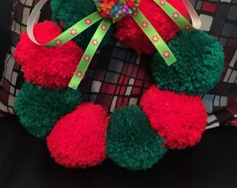 Christmas: Pom Pom Wreath