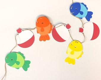 """O""""Fish""""ally One Fish and Bobber Garland"""