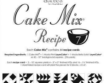 Cake Mix Recipe 7 by Miss Rosie's Quilt Co. for Moda Fabrics -Each Recipe Pad contains 44 Recipe Cards
