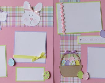 Premade 12x12 Scrapbook Pages - 1st Easter layout - BABY'S FIRST EASTER girl or boy - baby first year album, first holidays, scrapbooking