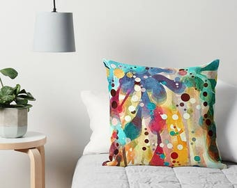 Throw Pillow, Art Pillow, Abstract Pillow, Rainbow Pillow, Modern Throw Pillow, Sofa Pillow, Toss Pillow, Accent Pillow, Modern Pillow